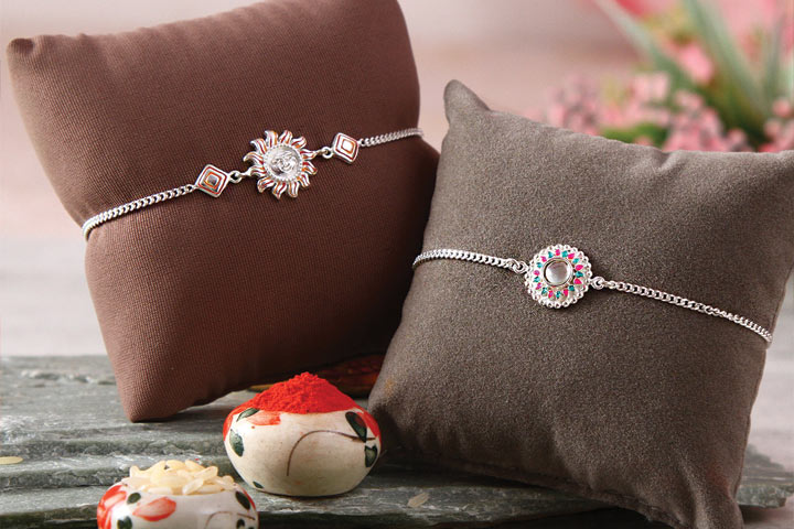 Entwine family in your love with Silver and Kids Rakhi