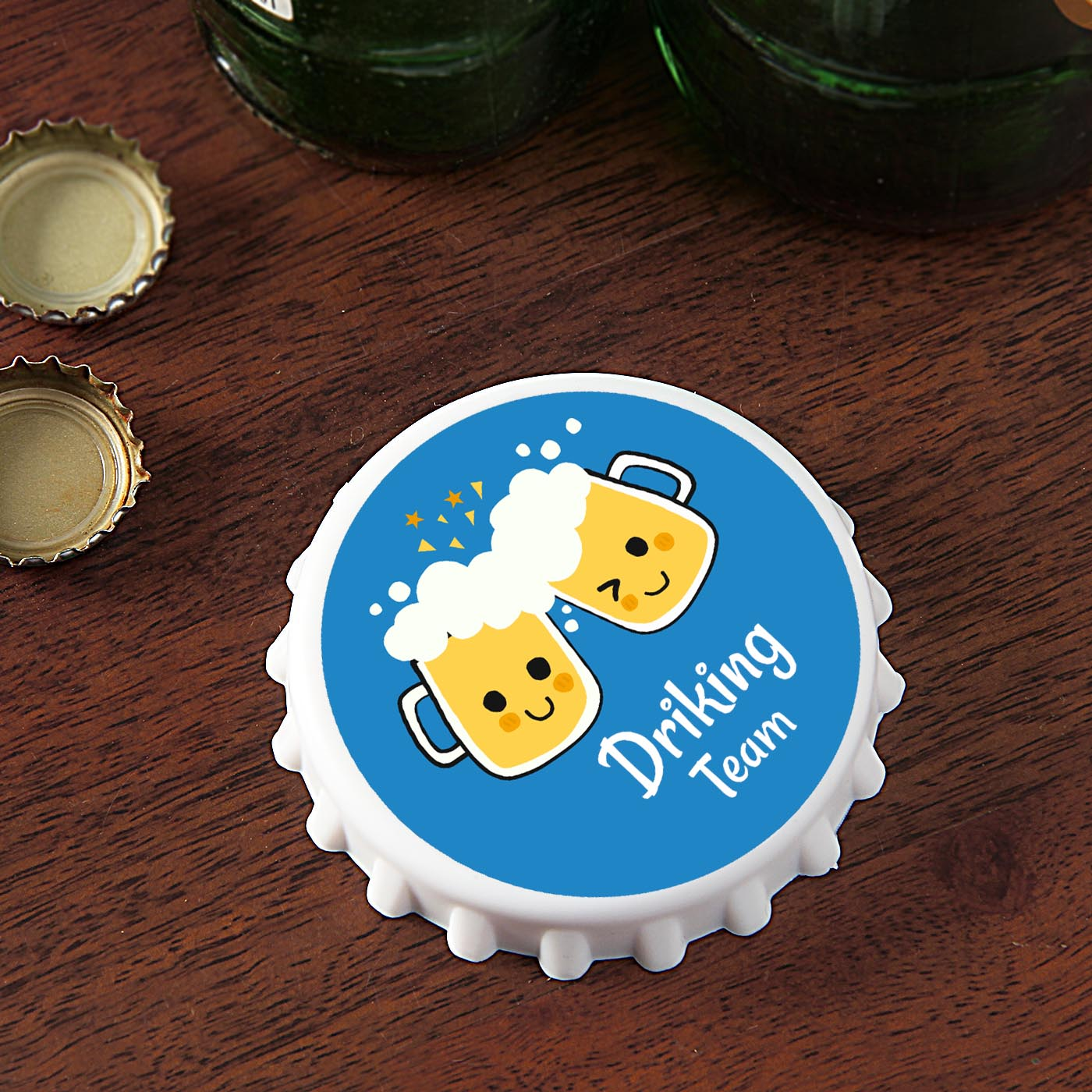 Cheer For Drink Personalized Bottle Opener