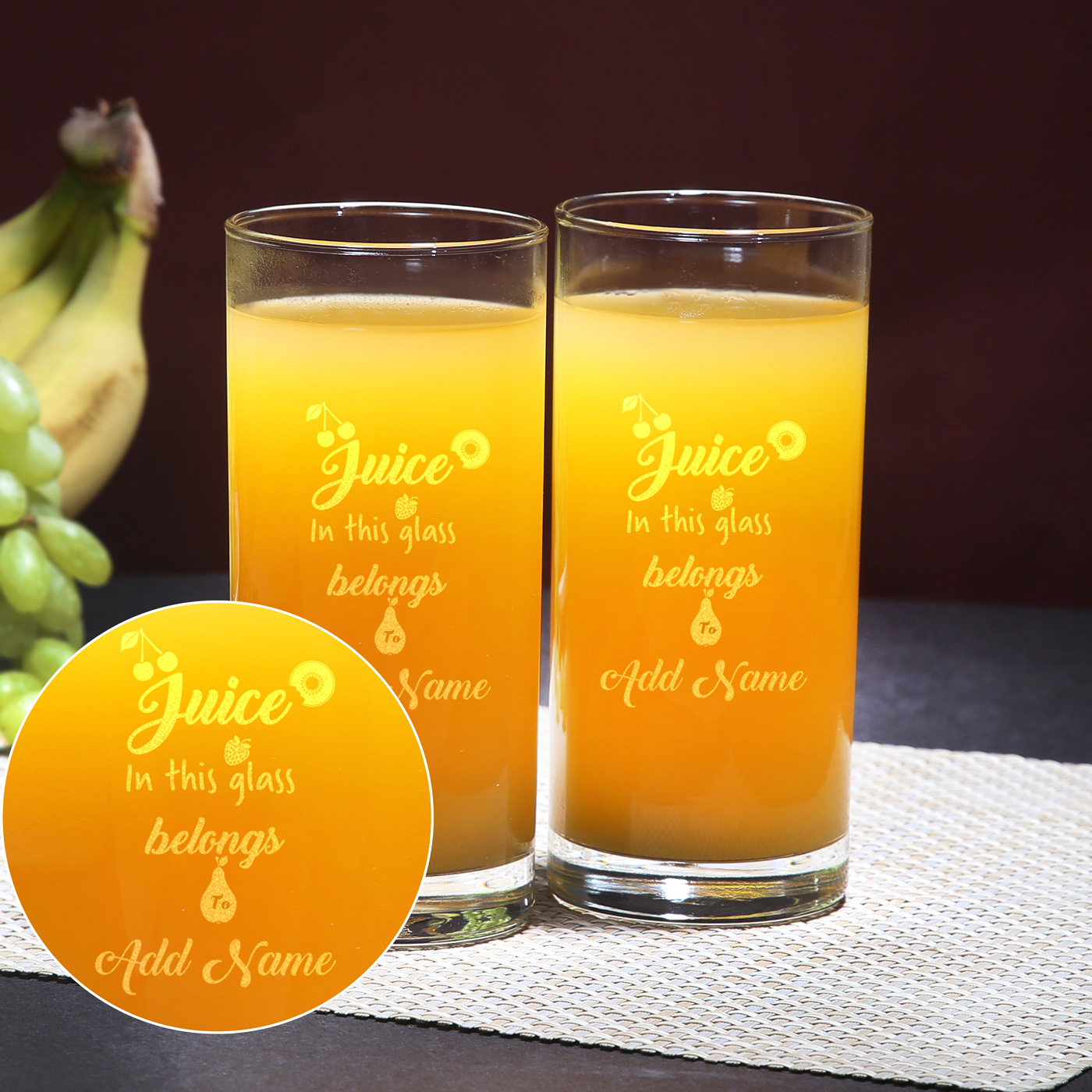 Creative Juice Glass Set of 2