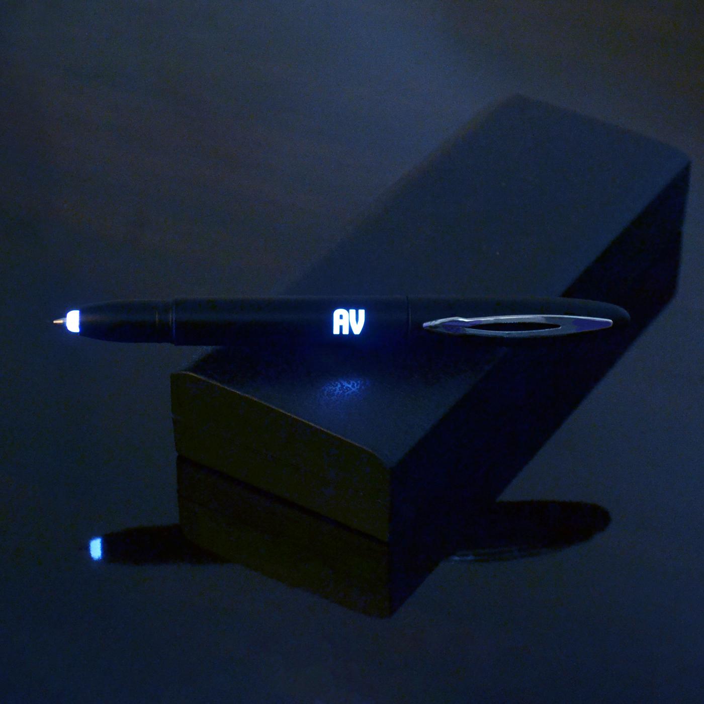 personalized led black pen