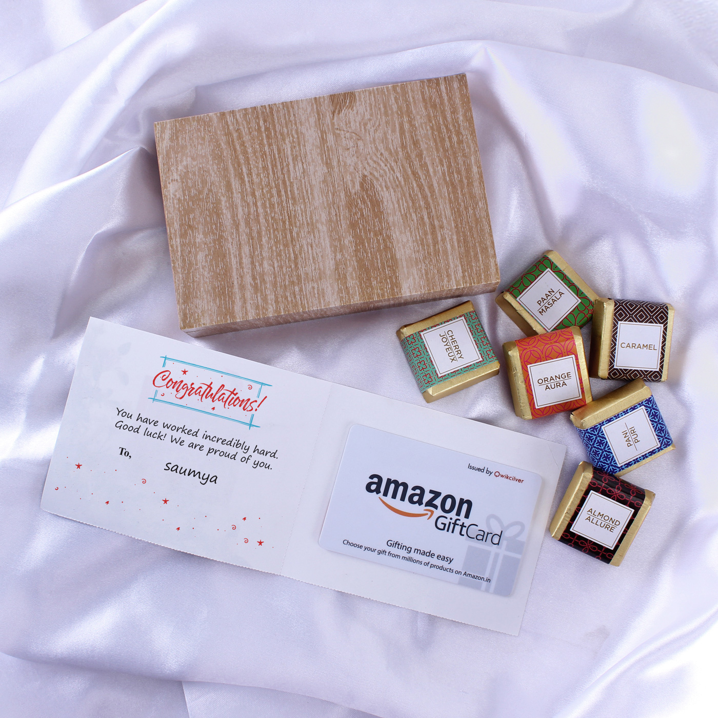 Amazon Personalized Best Wishes Gift Card with Chocolate 500