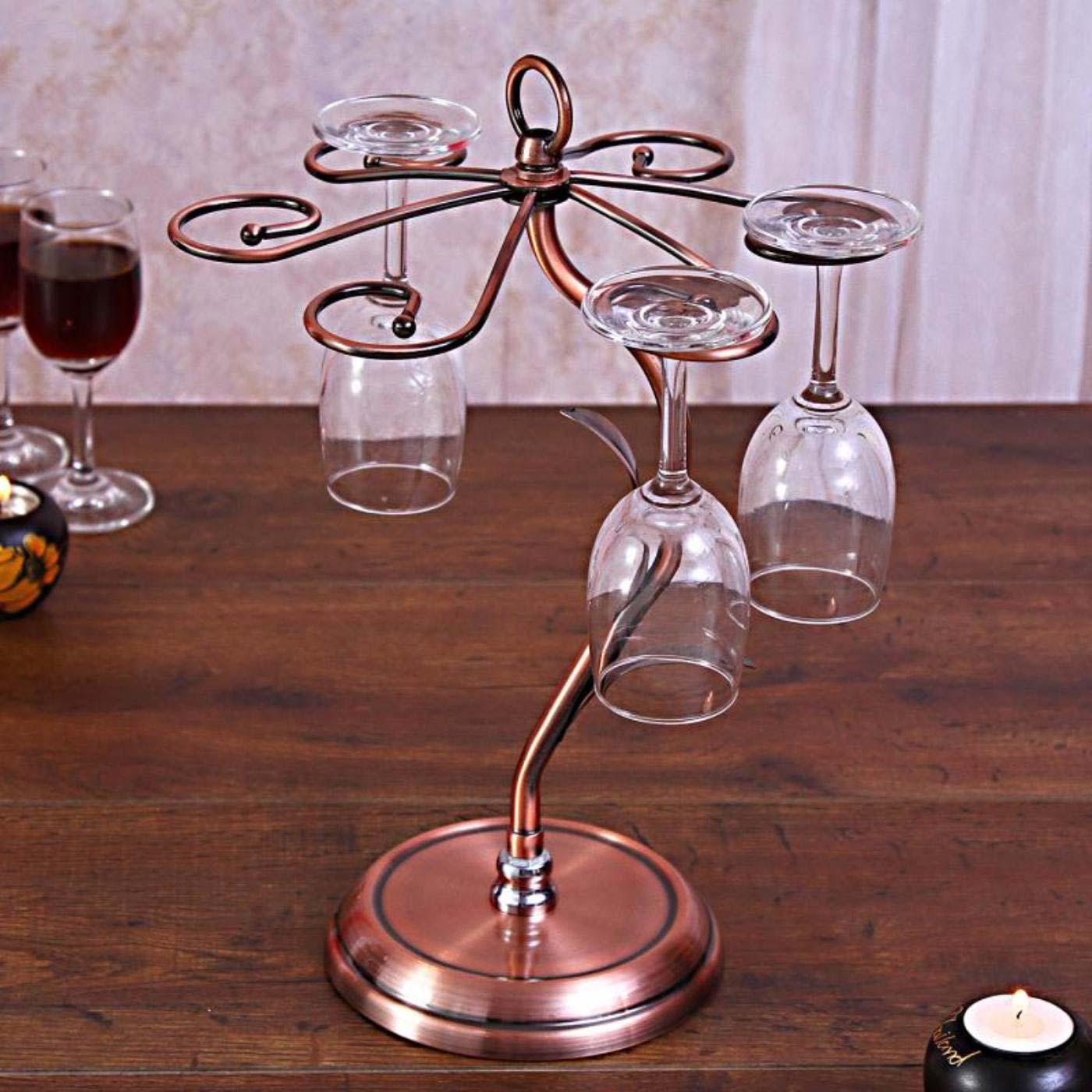 Charming Iron Wine Glass Holder
