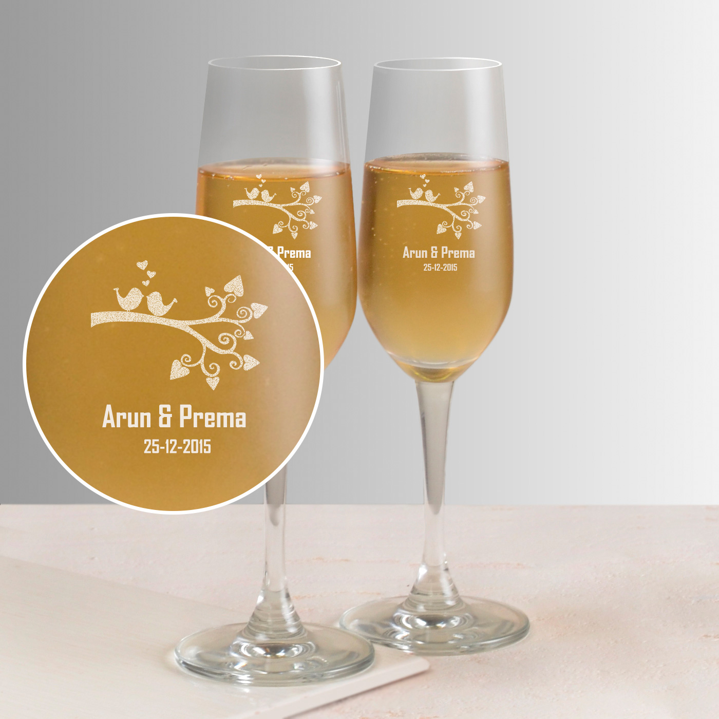 For Those Moments Personalized Set of Two Champagne Glasses