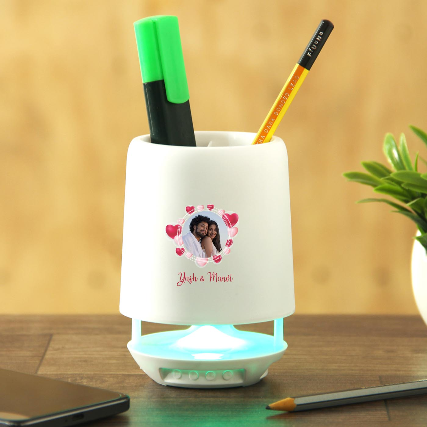 personalized desk lamp speaker