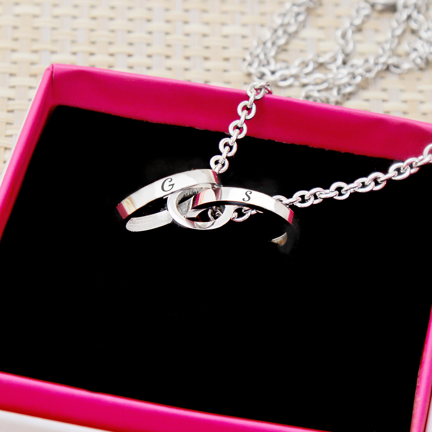 Personalized Triple Ring Pendant