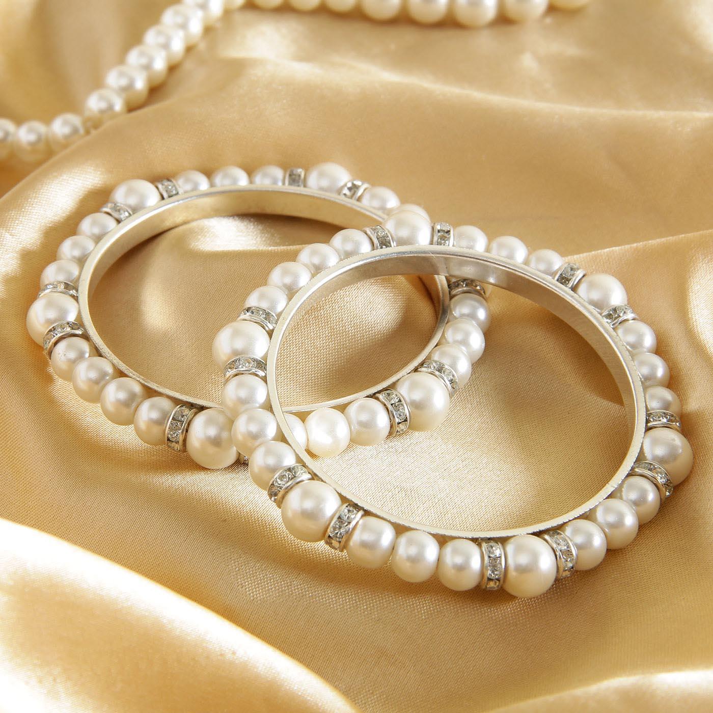 Dazzling Pearl Bangles