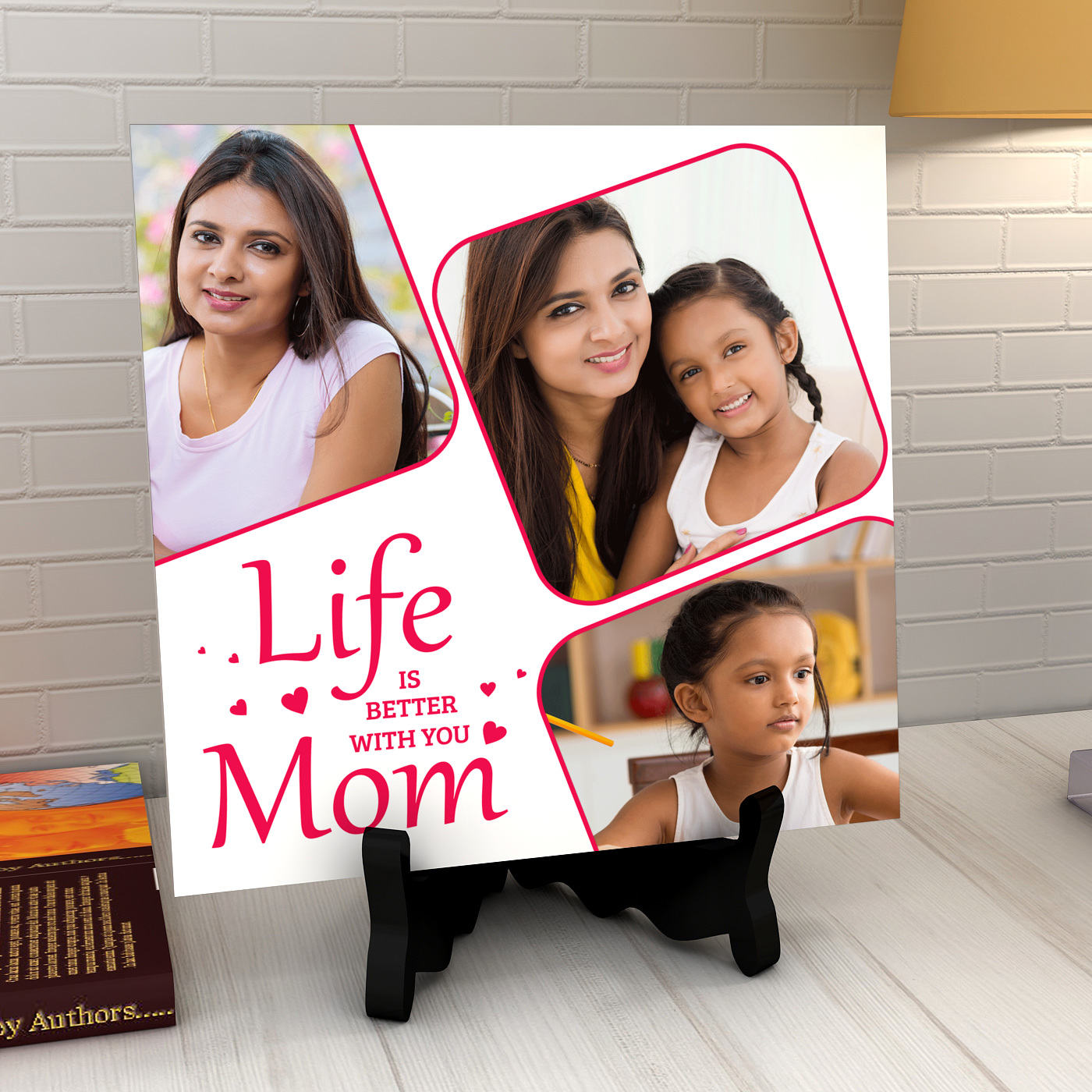 Life is Better with Mom Personalized Tile