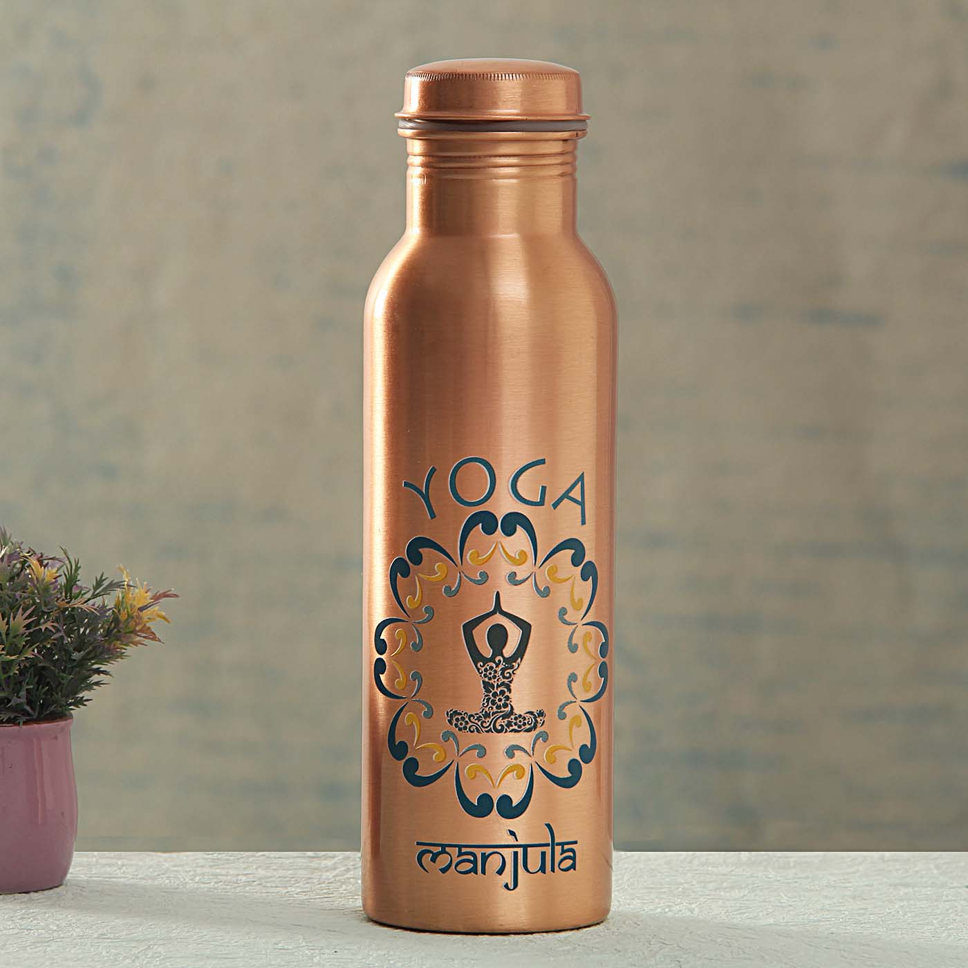 My Yoga Personalized Copper Bottle
