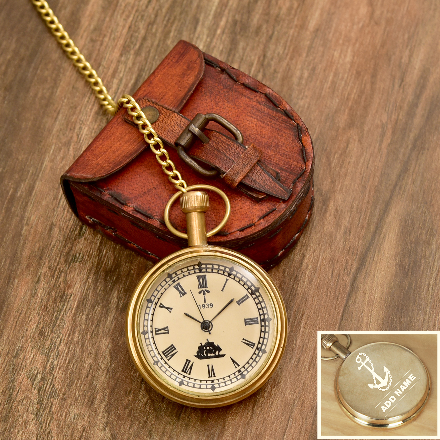 Anchor-Designed-Personalized-Brass-Pocket-Watch