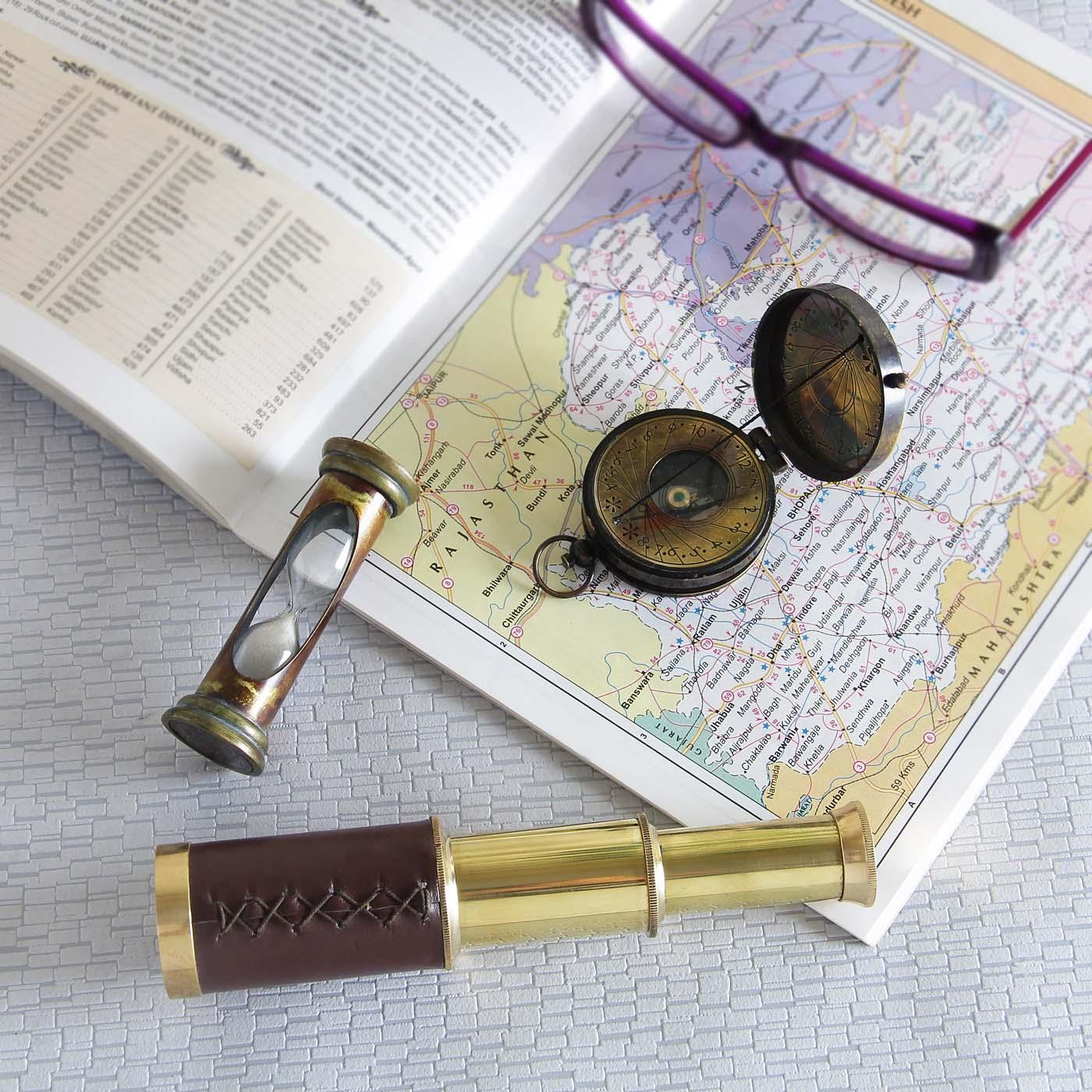 Brass-Nautical-Navigation-Collectible-Tool-Set