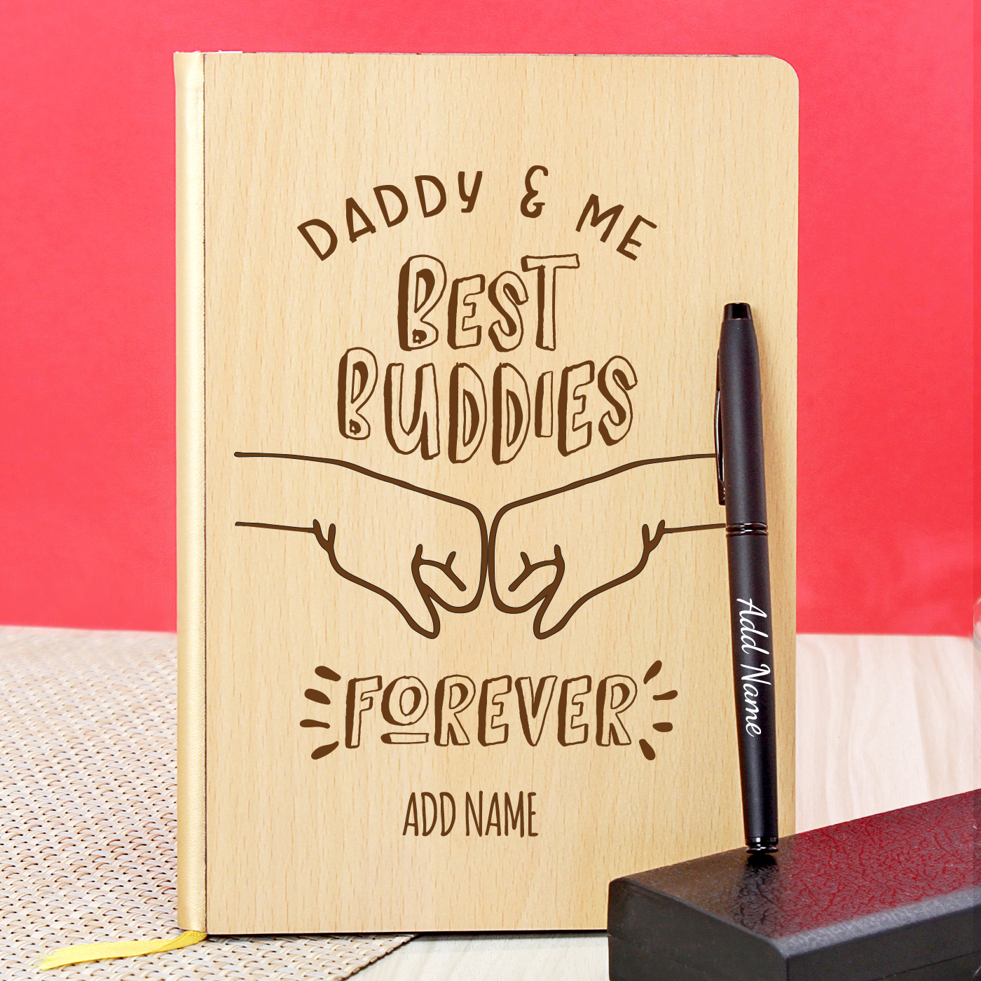 Personalized-Wooden-Diary-with-Pen-for-Daddy
