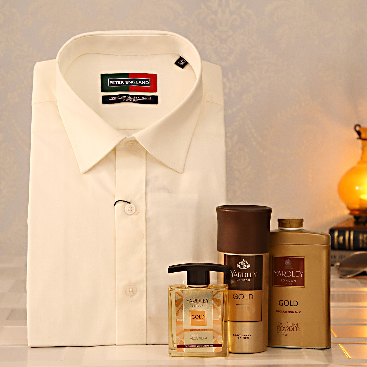 Peter-England-Off-White-Shirt-with-Yardley-Gift-Set