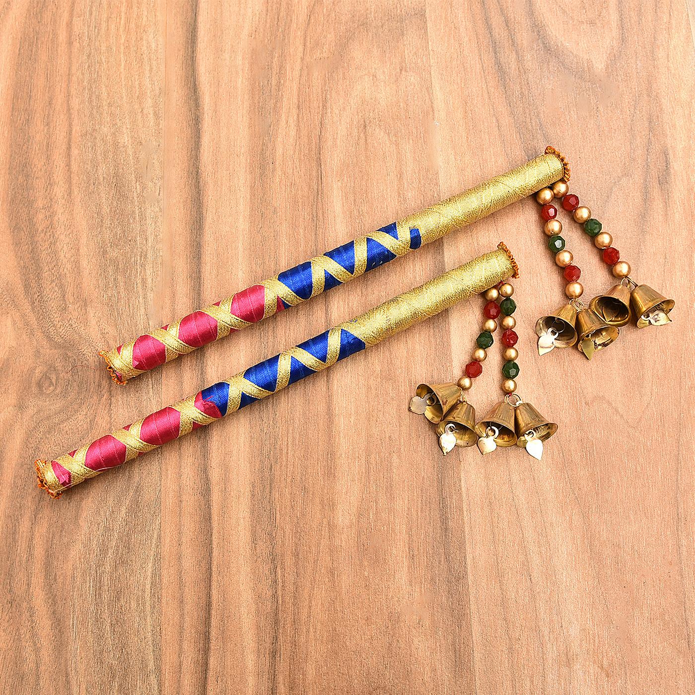 Colorful Wooden Dandiya Sticks
