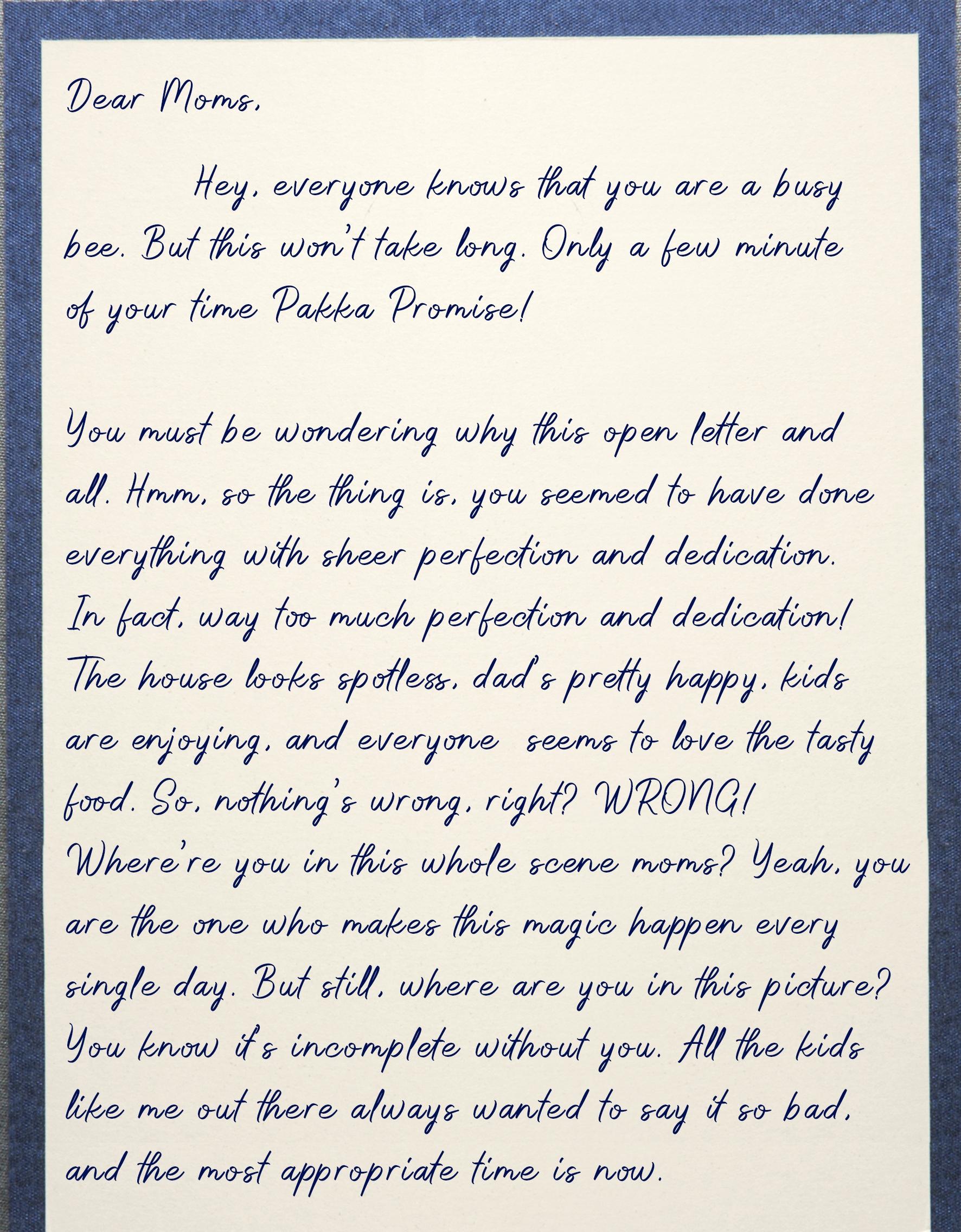 Letter for mom 1
