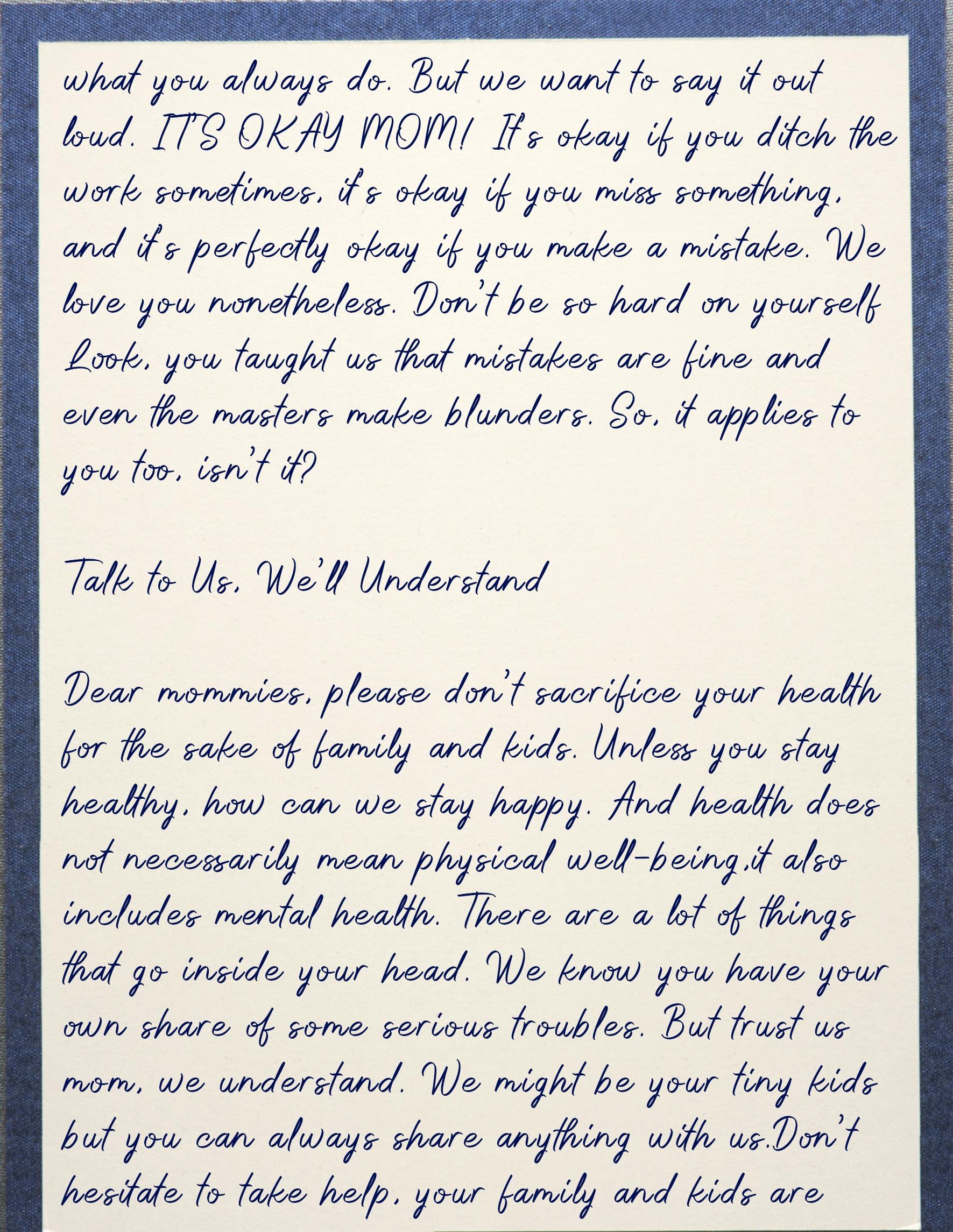 Letter For mom 4