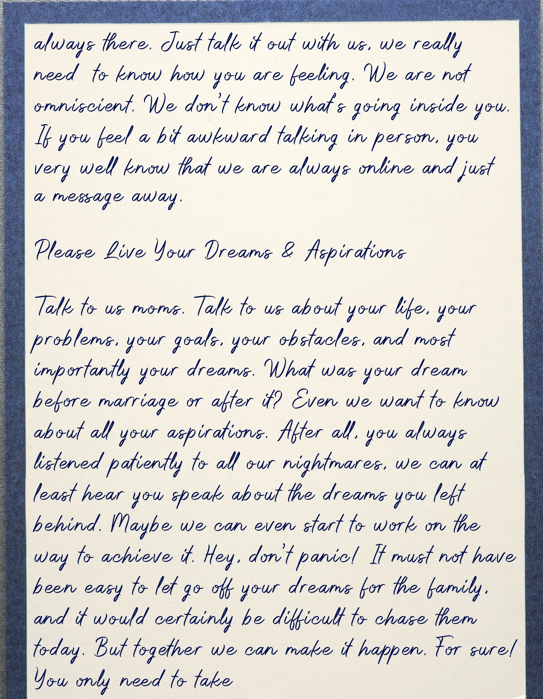Letter To mom 5