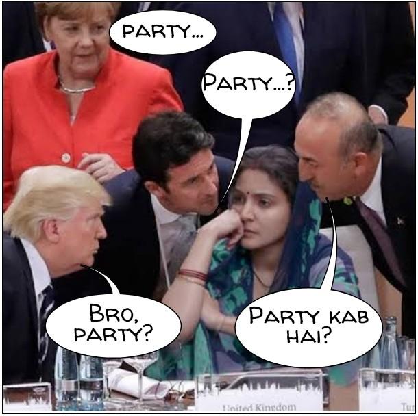 Anushka Sharma Party Meme