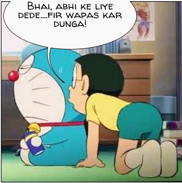 Doraemon Udhaar meme
