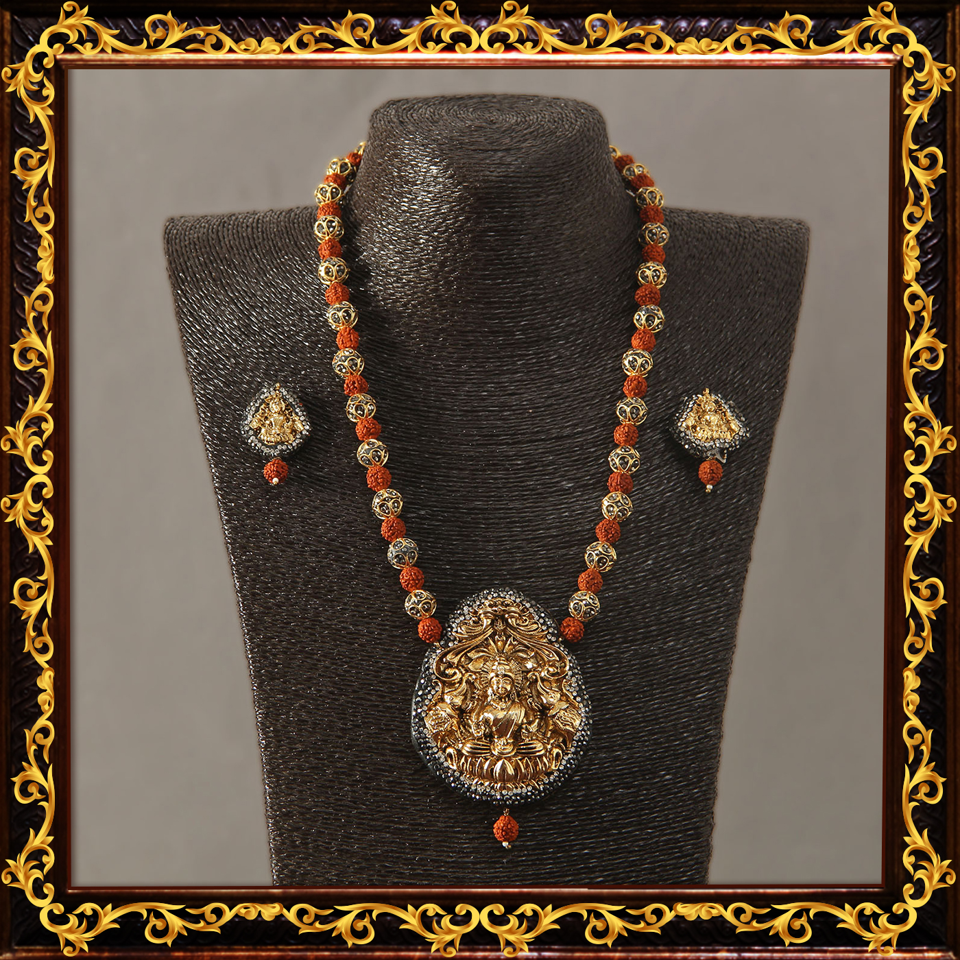 ethnic_temple_designed_rudraksha_necklace_set