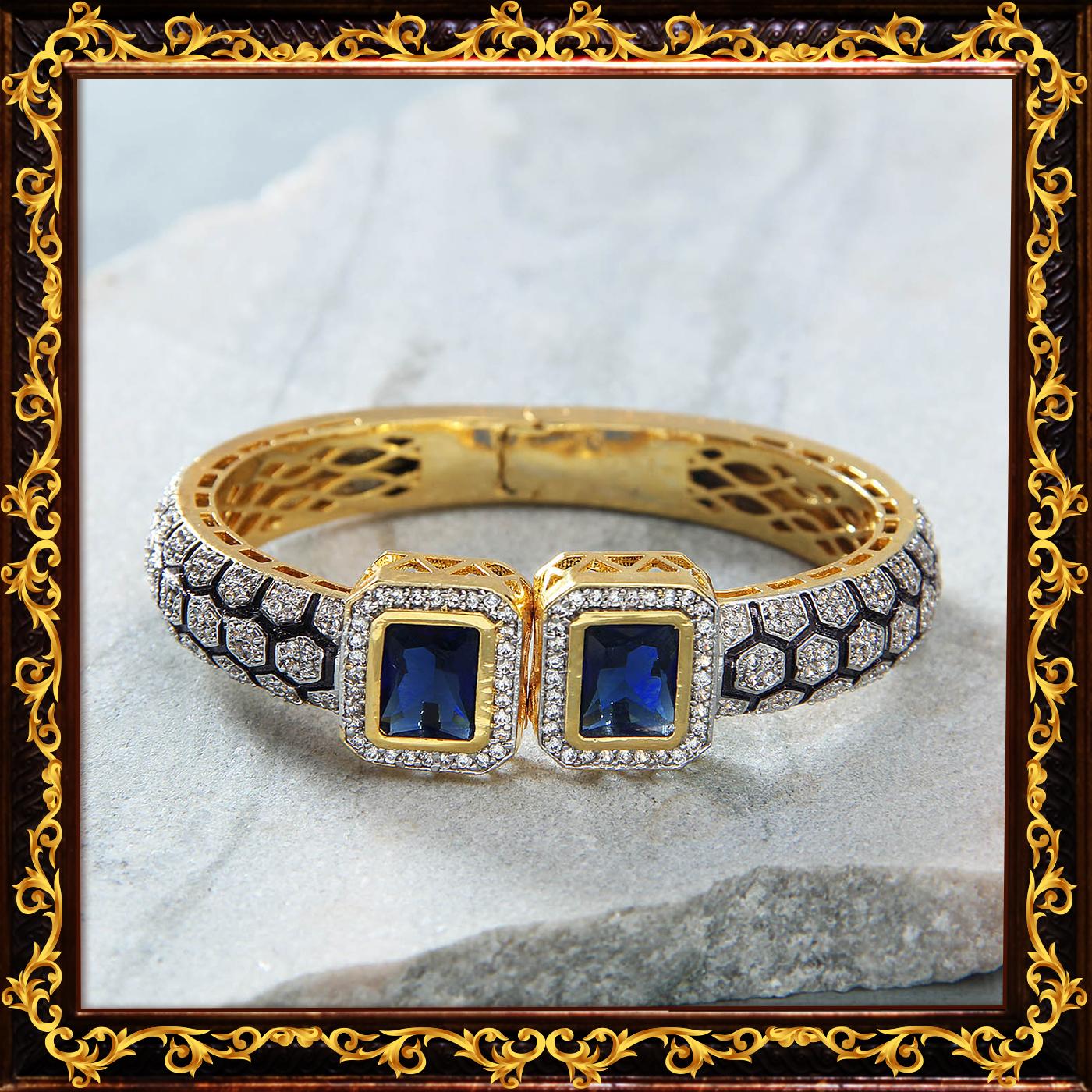 Prussian_blue_stone_bracelet