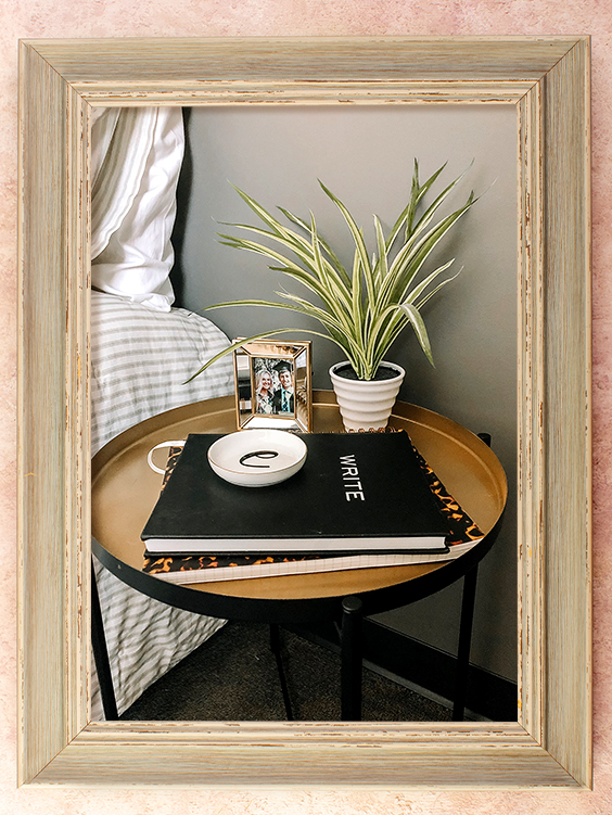 Side Table with Planter