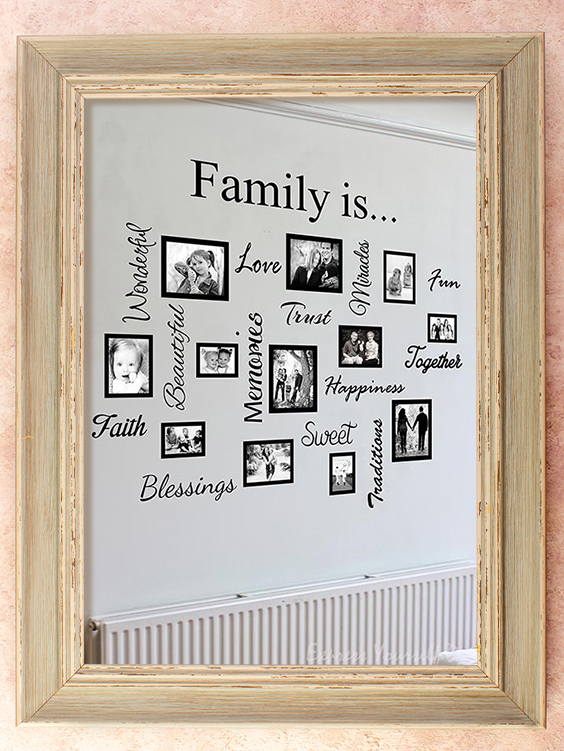Collage family wall frame