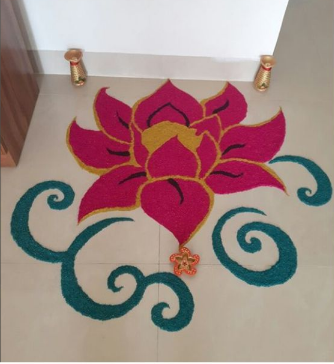 Lotus_Shaped_Rangoli