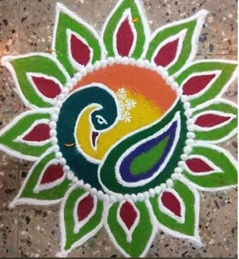 Peacock_Shaped_Rangoli