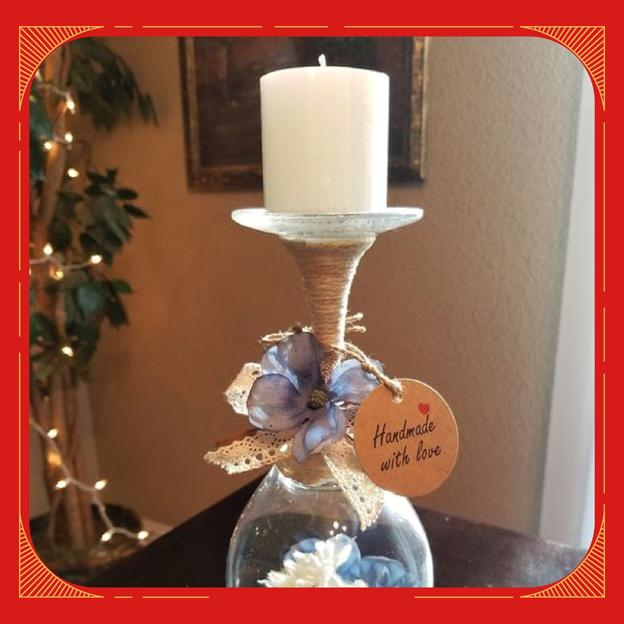 DIY_Wine_Glass_Diya