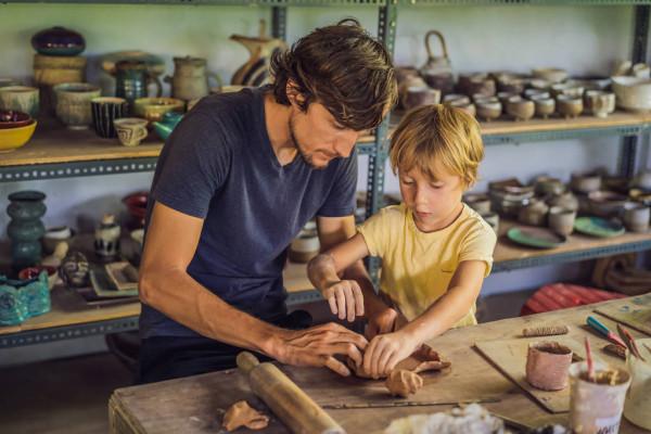 dad pottery workshop