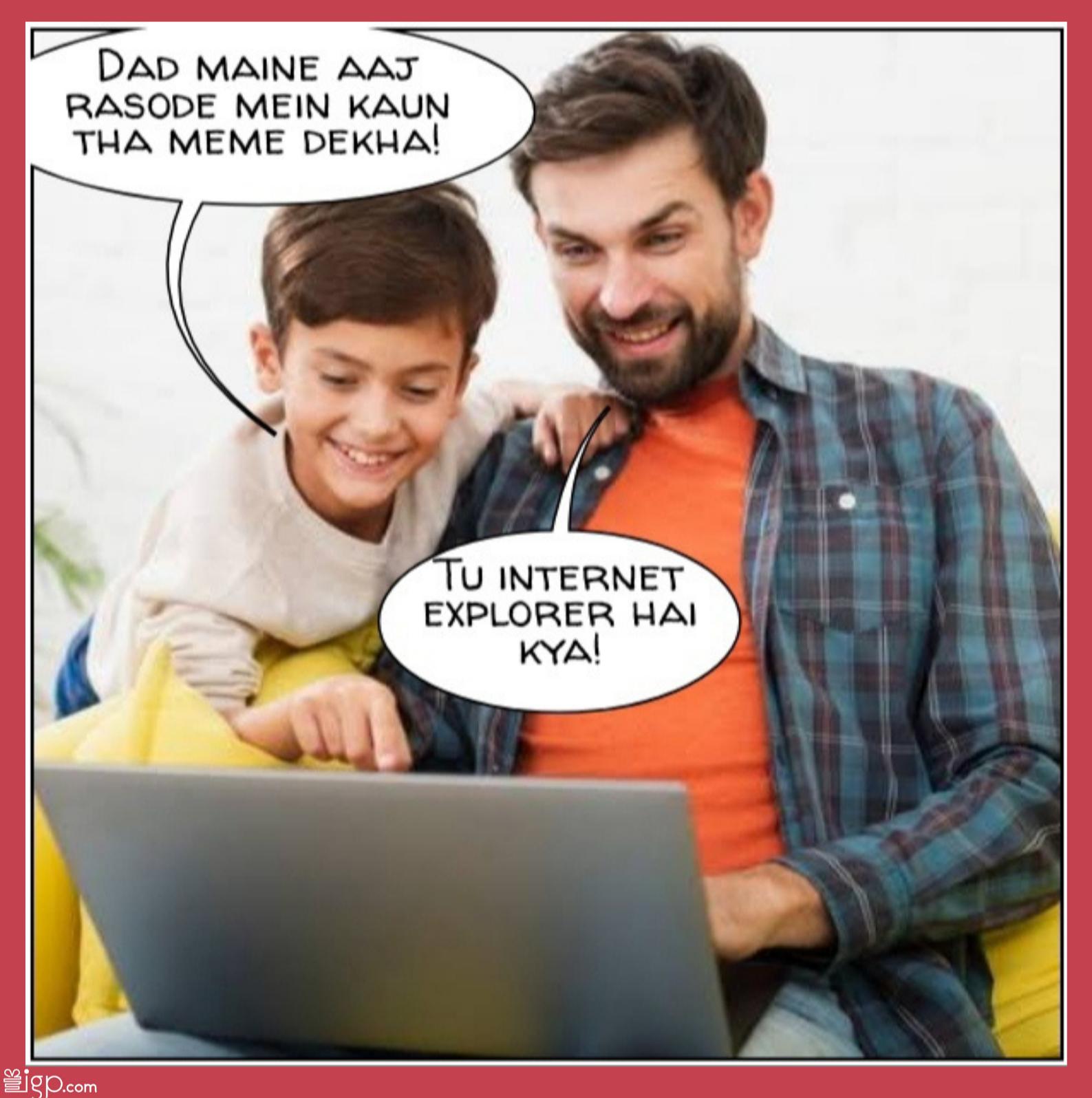 Dad sharing memes