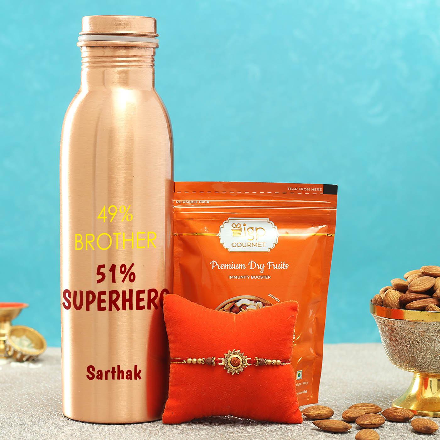 Rudraksh_Rakhi_with_Copper_Bottle